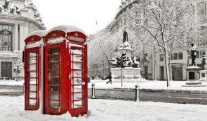 Londra con la neve